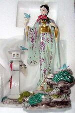 Franklin Mint Porcelain Sculpture Wisteria Blossoms