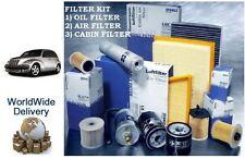 Para Chrysler Pt Cruiser 2.0 I 00-2004 Service Set Aceite Aire Polen Filtros (3) Kit