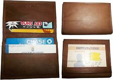 3 Leather business card credit card case ID card ATM card case card holder BNWT