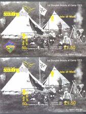 Isle of Man Scouts & Guides 2 min sheets mnh-Original & Jamboree Overprint