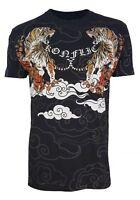 Konflic Fighter Men's Tiger Tattoo UFC MMA Muscle T Shirt