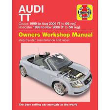 Audi TT Coupe Roadster 1.8 2WD 4WD 1999-2006 Haynes Workshop Manual