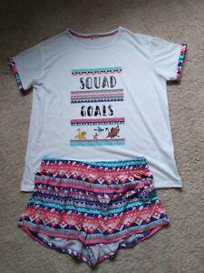 PJ Pyjama Set By Disney Size M (12/14) NWOT