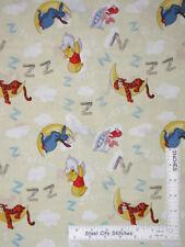 Disney Winnie Pooh Eeyore Piglet Tigger Sleepy Cotton Fabric CP43383 By The Yard