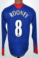 MANCHESTER UNITED 2005/2006 AWAY FOOTBALL SHIRT NIKE ROONEY #8 LONG SLEEVE