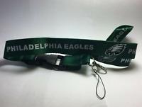Philadelphia Eagles Lanyard ID Badge Key Chain Clip Detachable Ticket Holder USA