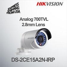 Hikvision Bullet Color Camera 700TVL 2.8mm Lens DS-2CE15A2N-IRP Analog CCTV