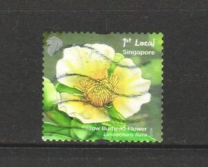 SINGAPORE 2012 POND LIFE 1ST LOCAL YELLOW BURHEAD FLOWER 1ST PRINT (2012A) USED
