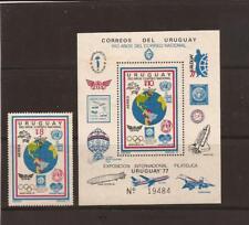 URUGUAY- Nat'l Postal System Anniversary-Set/souvenir sheet
