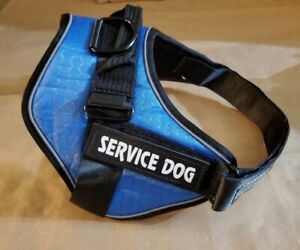 Adj No-Pull Service Dog Reflective Harness Training Pet Vest & 2 Free Patches