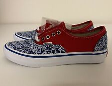 Vans x F*cking Awesome FA Blue Red White Authentic Mens Sz 6.5/ Women's Sz 8 NEW