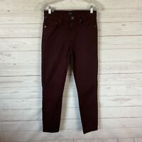 Citizens of Humanity Rocket Crop High Rise Skinny Jeans Sz 25 Maroon 26x26
