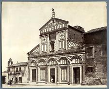 Italie, Firenze, St. Miniato Vintage albumen print.  Tirage albuminé  18x24