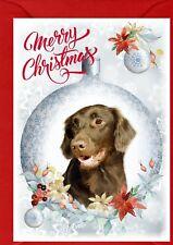 "Flatcoated Retriever Dog A6 (4""x6"") Christmas Card - Blank inside - by Starprint"