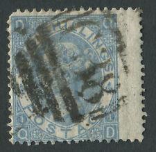 GB utilizzati in Perù Z55 1867 2S BLU, QD ALA margine, strano breve perfwith C38 Callao.