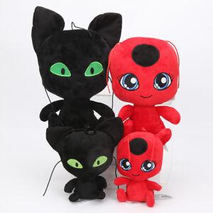 UK Miraculous LadyBug Cat Noir Adrien Marinette Plagg Plüsch Figur Stofftiere AN