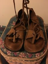 Bald Mountain Handmade Renaissance Faire  sandals 6.5-7 Womans Rare! Lace Up Leg