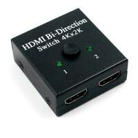 HDMI 2.0 HDTV Switcher Splitter Bi-Direction Hub HDCP N1A6 In 4K Out 1x2 M1W9