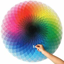 1000 Pieces Gradient Color Rainbow Large Round Jigsaw Puzzle for Adults and Kids