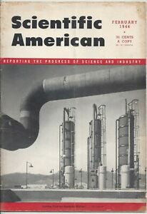 Scientific American Magazine February 1944 WWII Synthetic Rubber
