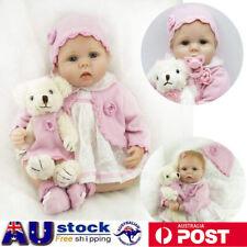 "22"" Real Life Baby Dolls Silicone Vinyl Reborn Lifelike  Realistic Newborn Girls"