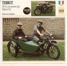 Scheda moto plastificata TERROT 350 G sidecar CG - Moto da turismo - 1925