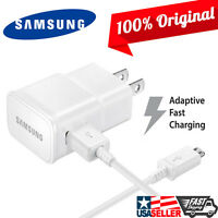 BOEM Samsung Fast Charger NEW Adaptive Wall Home + 5FT Cable for Galaxy Note 5 4