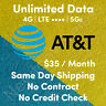 Unlimited AT&T SIM Card Data Plan $34.99 /month | No Throttling | No Contract RV