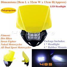 Enduro Motocross LED Headlight Head Lamp For Suzuki DR200S DR650S DR-Z70 Yellow