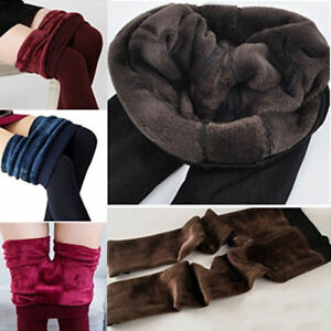Women Ladies Warm Winter Thick Pant Fleece Lined Thermal Stretchy Leggings Pants