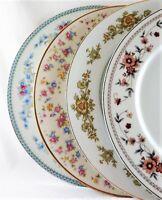 4 Vintage Mismatched China Dinner Plates Pinks Blues Floral Shabby Cottage  # 84