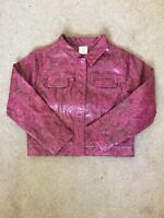 GIRLS LEATHER LOOK SNAKESKIN JACKET AGE 8-9