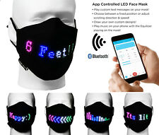 Magic Mask App Controlled LED Lighted Face Mask USB Rechargeable Adjustable Size