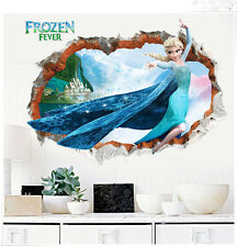 Frozen 3D Wall Stickers Queen Elsa Wall Decals Kids Room Home Nursery Decoration