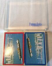 Collectable Vintage Farrell Lines Freight Ship Twin Deck Of Playing Cards *rare*