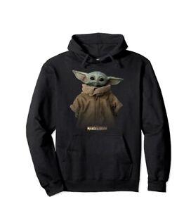 Star Wars Baby Yoda Mandalorian Hoodie Sweatshirt.  Kids Small