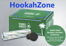 100 Pcs Three 3 Kings Premium Coconut Charcoal Hookah Shisha Coal 33 mm HOLLAND