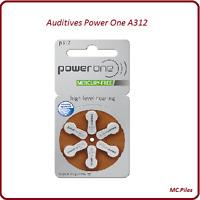 Lot piles boutons auditives Power One appareils auditifs A312, de 1 à 60 piles