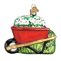 """Wheel Barrow"" (36236)X Old World Christmas Glass Ornament w/OWC Box"