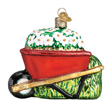 """Wheel Barrow"" (36236) Old World Christmas Glass Ornament w/OWC Box"