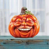 Expressive Laughing Pumpkin Fall Halloween Tabletop Décor