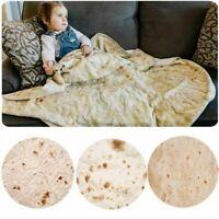 Tortilla Blanket Burritos Food Flour & Corn Throw Round Tortilla Soft Flannel
