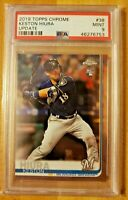 2019 Topps Chrome Update PSA 9 Mint RC Keston Hiura #38 Rookie Card Brewers