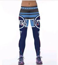 Tennessee Titans Leggings L/XL #8 Mariota football Athletic Yoga Stretch NWT