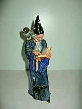 Royal Doulton Figurine The Wizard Figurine Hn 2877 Wizard Owl Cat and Spell Book