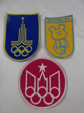 1980 Summer Olympics Xxii Moscow Russia Olympic Games Lot Of 3 Patches Patch