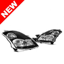 FOR 07-09 Altima Sedan Black Headlights w/ Smoke Reflector
