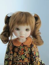 New Monique DARLING Wig Golden Auburn color Size 6-7 YoSd BJD shown on Avery