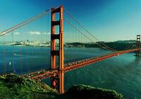 BRIDGES GOLDEN GATE SAN FRANCISCO NEW A1 CANVAS GICLEE ART PRINT POSTER