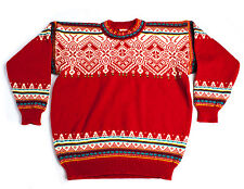 DALE OF NORWAY MENS NORDIC FAIR ISLE WOOL CHUNKY JUMPER SWEATER PULLOVER Size XL